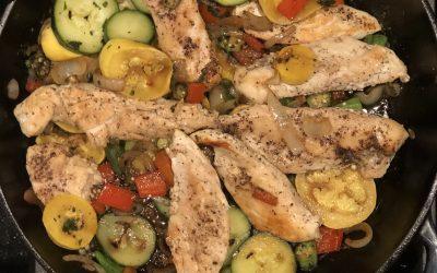 Seared Chicken & Summer Veggies
