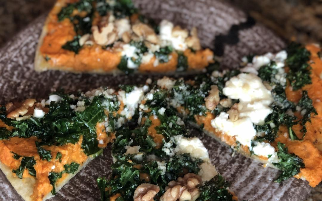 Sweet Potato and Kale Gluten-Free Pizza